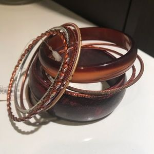 Dark Brown Bangle Bracelets